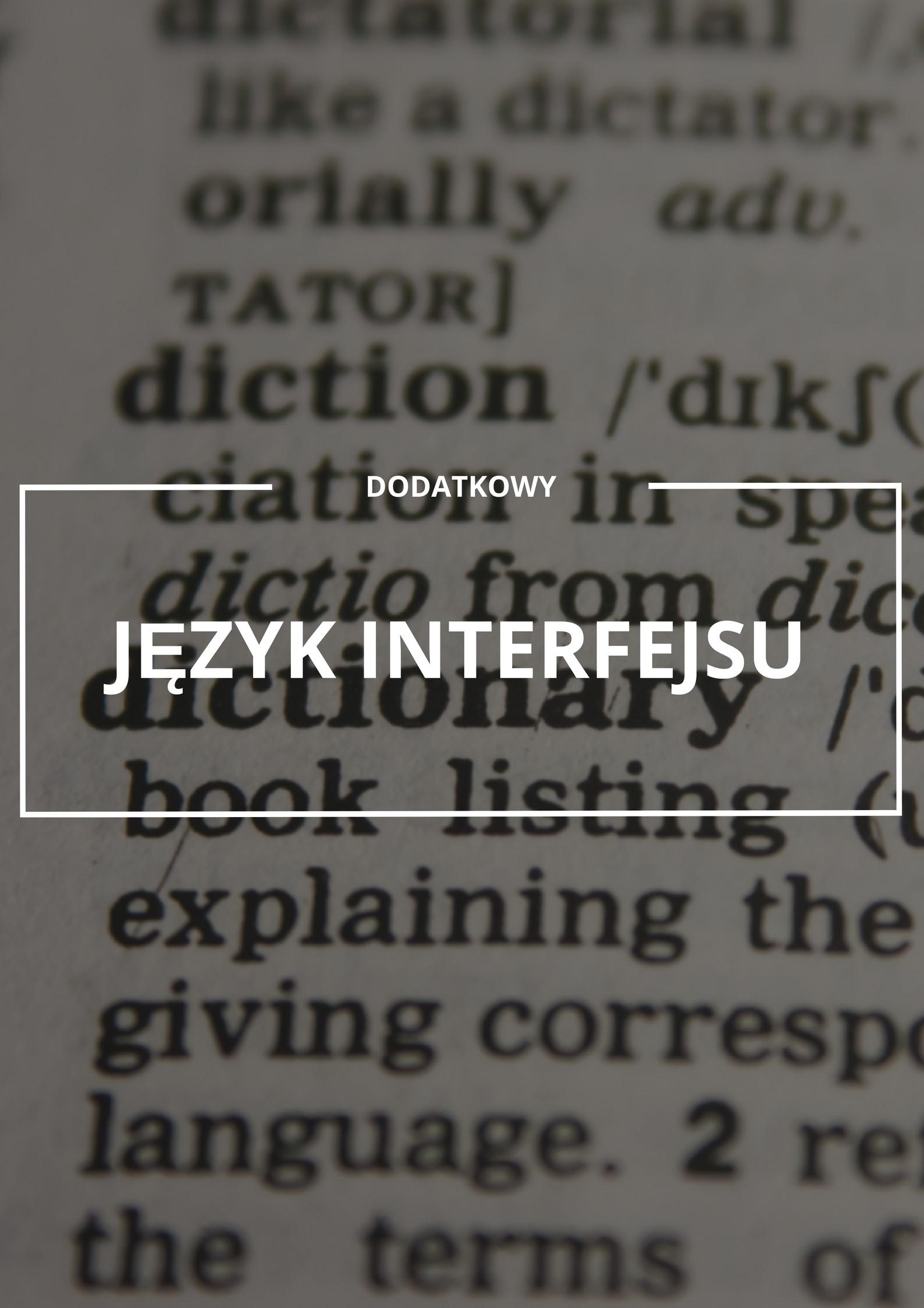 Dodatkowy język interfejsu