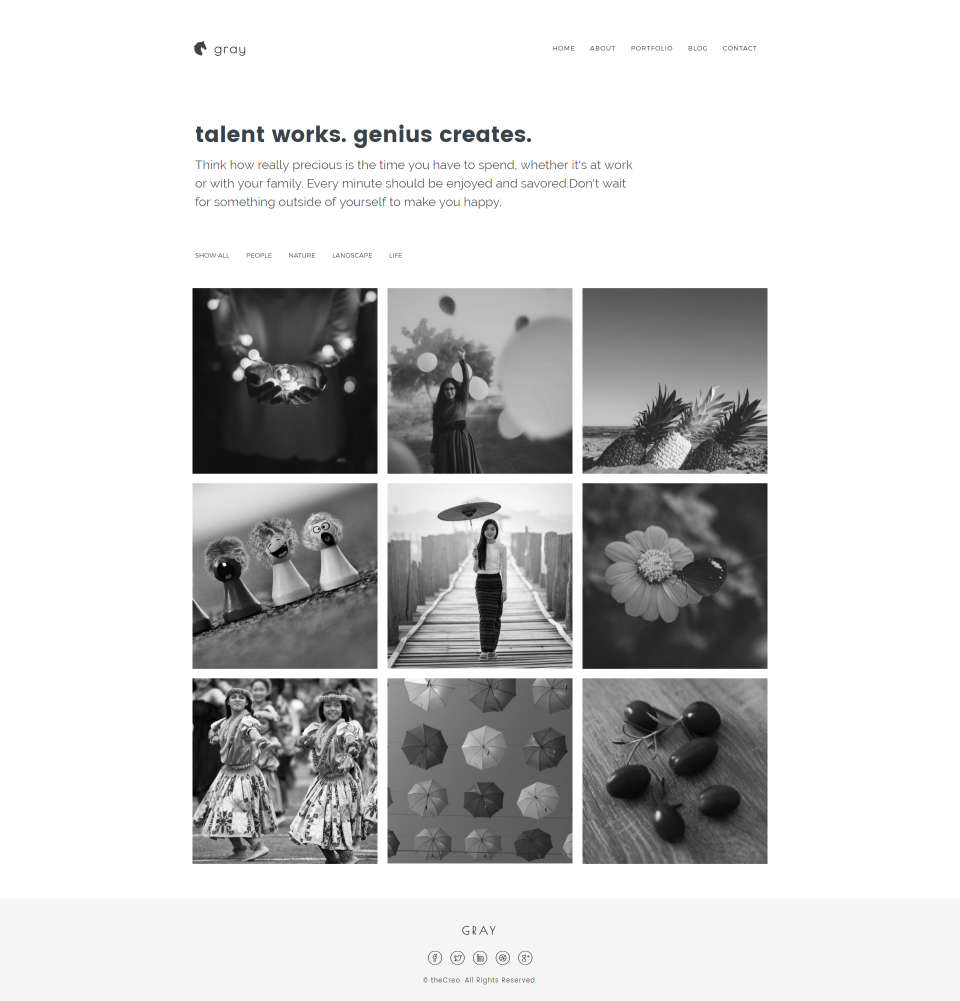 Strona w odcieniach szarości skierowana do fotografów i projektantów