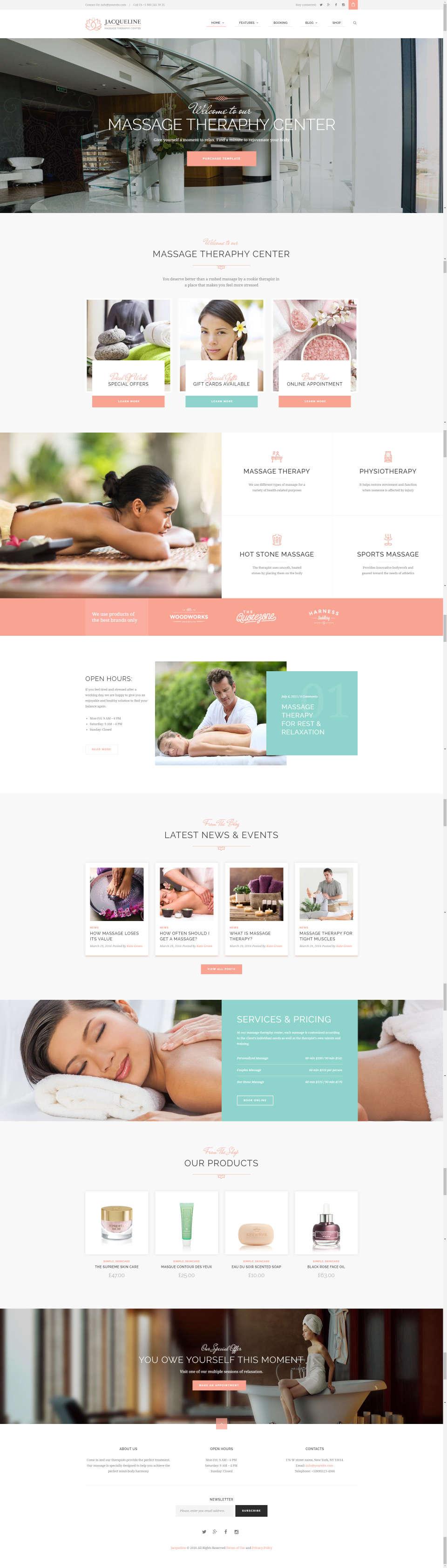 Strona internetowa dla salonu kosmetycznego lub SPA