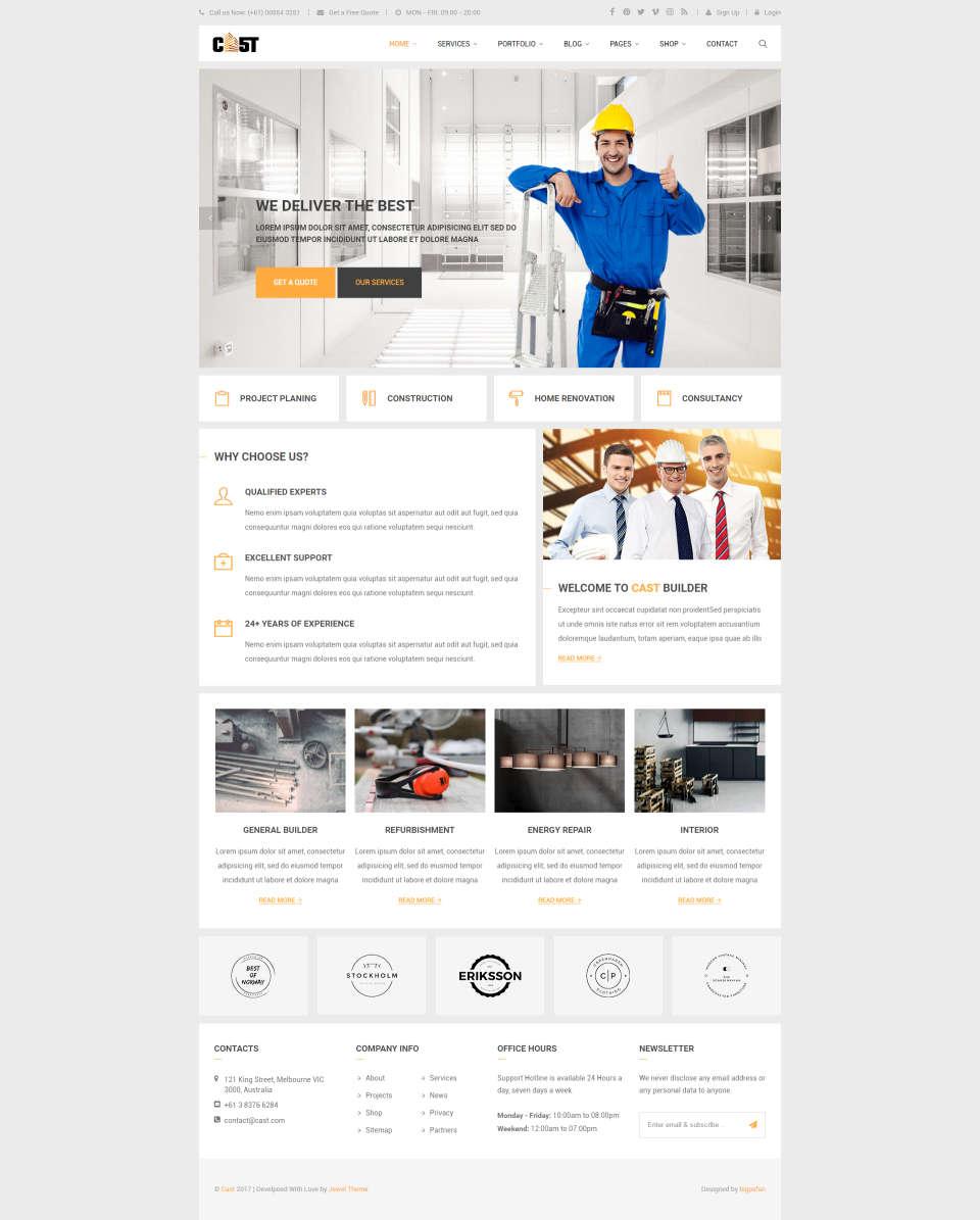 Strona internetowa dla firm budowlanych