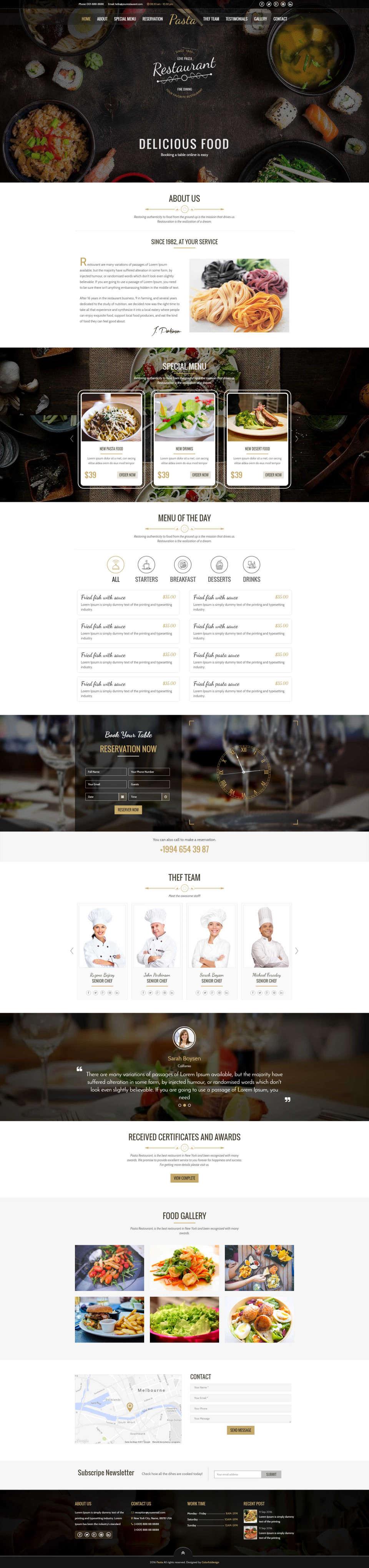 Strona internetowa dla firm z branży gastronomicznej - restauracja, pub, pizzeria, garmażerka